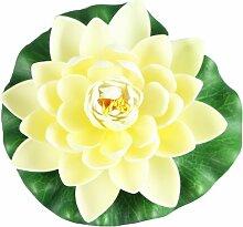 Seerose Teichrose 18 cm Lotusblume Dekoblume Teichdeko Garten Teich Kunst Blume Gelb