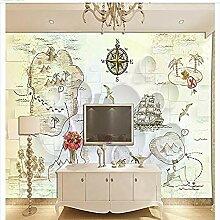 Seeroutenkarte Segelinsel für Wände Wandbilder
