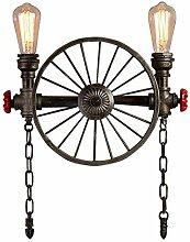 SEESEE.U Vintage Lampe, Industriell Retro Gilt