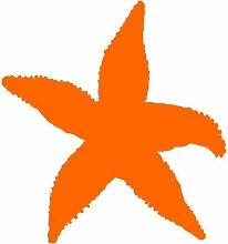 Seestern Aufkleber , 50 cm, orange