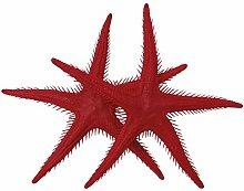 Seesterne rot, 2 St. - Kunststoff Seesterne zur