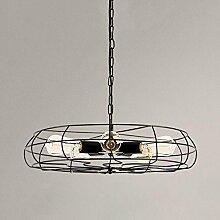 SEESUNG amerikanischer Dachboden Retro kreativer industrieller Fan Leuchter des Wind LED, Restaurant Ventilator beleuchtet die Wohnzimmer Lampen, die 6 Köpfe beleuchten,BLACK