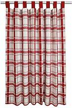 SeGaTeX home fashion Landhaus-Vorhang Hetty rot