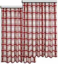 SeGaTeX home fashion Set Dekoschal Hetty Rot-Weiß