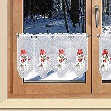 SeGaTeX home fashion Weihnachts-Scheibengardine