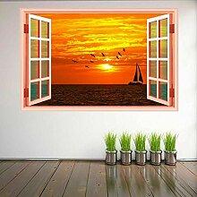 Segelboot Sonnenuntergang Segelboot Wandkunst