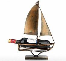 Segeln Wein Flaschenhalter Eisen Kunst
