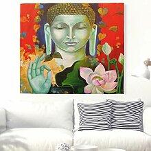 Segen Buddha mit Lotus Wandteppich Indische