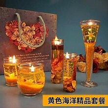 SEHBDY Kerzenhalter Gelee Kerze Marine Serie