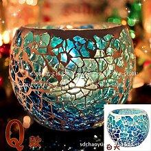 SEHBDY Kerzenhalter Mosaik Glas Kerzenleuchter