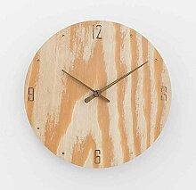 Sehen Sie Sich Die Uhr Einfachen Haushalt Schlafzimmer Wohnzimmer Moderne Mute Holz Im Garten, 12 Zoll, Ve Protokolle