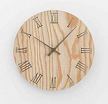 Sehen Sie Sich Die Uhr Einfachen Haushalt Schlafzimmer Wohnzimmer Moderne Mute Holz Im Garten, 12 Zoll, Vc-Protokolle