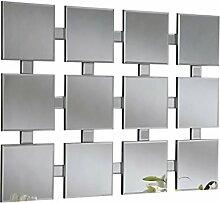 Sehnen, 12-flächigem Modern Spiegel, 89x 120cm, silber