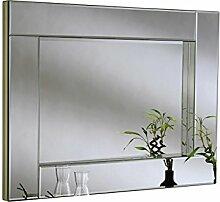 Sehnen, abgeschrägten alle Glas Box Spiegel, 91x 122cm, Silber