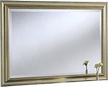 Sehnen, abgeschrägten Gerahmter Wandspiegel, 71x 99cm, champagner