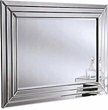 Sehnen, atemberaubende 3D modernes abgeschrägten Spiegel, 89x 120cm, silber