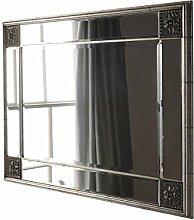 Sehnen, dekorative Spiegel, gerahmt mit Glas Rahmen, 84x 114cm, silber