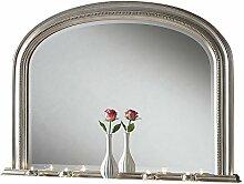 Sehnen, kunstvolles abgeschrägten Spiegel, perlenbesetzt, 112x 79cm, silber