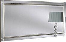 Sehnen, modernes Glas Gerahmter Wandspiegel, 76x 168cm, silber