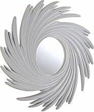 Sehnen, Sunburst dekorativer Wandspiegel, 99x 99cm, matt weiß