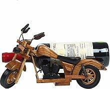 SEHNL Retro Motorrad aus Holz Red Weinregal