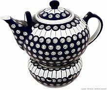 sehr große Bunzlauer Keramik Teekanne mit