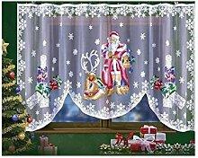 Sehr Weihnachten attraktives Netzgardinen Santa
