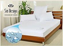 Sei Design® Elite wasserdichter atmungsaktiver Matratzenschoner mit Frottiergewebe, Wasserundurchlässige Sanilinie (90x200 / 95x200). Durch einfaches Aufziehen, wie ein Spannbettlaken, passt perfekt auf Ihre Matratze. Unterbett - Matratzenauflage – Matratzenschonbezug - Inkontinenz