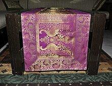 Seide dekorative Tischdecke Vintage Tischdecke