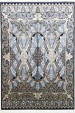 Seide Perser Design Teppich 5,5x 2,4m Blau