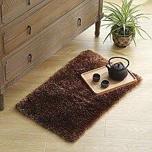 Seide Rutsch Badematte/Badezimmer in eine Fußmatte/Wohnzimmer-Küche-Matten-C 50x80cm(20x31inch)