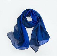 Seiden Modal Farbverlauf Gefärbten Schal Klimaanlage Sonnenschutz Schal Schal , Saphirblau