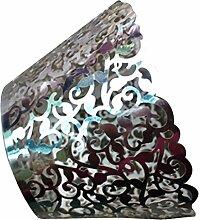 Seidenblumen, filigran Vintage bechercake Hülle umschließt Case Hollow Birthday, Heimwerker silber