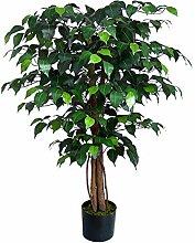 Seidenblumen Roß Ficus Benjamini 90cm grün DA