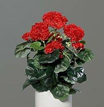Seidenblumen Roß Geranie 36x28cm rot -ohne Topf-