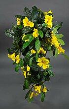 Seidenblumen Roß Hibiskusranke 70cm gelb ZF