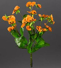 Seidenblumen Roß Hornveilchen 22cm orange FI