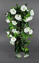 Seidenblumen Roß Petunienranke 65cm weiß ZF