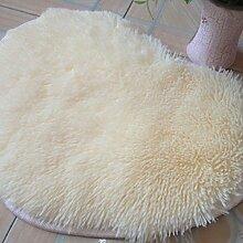 Seidenhaar Herzförmig Bedside Teppich Wohnzimmer Schlafzimmer Teppich Küche Badezimmer Wasseraufnahme Teppich , white , 50*60cm