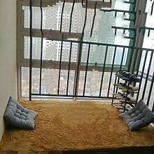 Seidenhaar Teppich Schlafzimmer Teppich Korallen Samt Wohnzimmer Teppich Computer Kissen Zeltauflage Basket Matte , khaki , 40*60