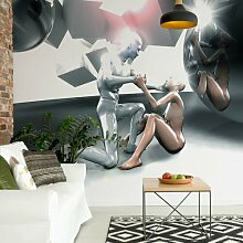 Seidenmatte Fototapete 3D-Menschen 2,08 m x 146 cm