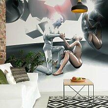Seidenmatte Fototapete 3D-Menschen 2,54 m x 184 cm