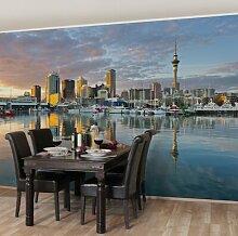 Seidenmatte Fototapete Auckland Skyline