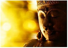 Seidenmatte Fototapete Buddha Enlightenment World