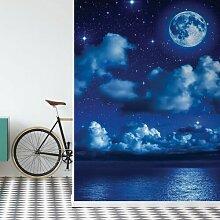 Seidenmatte Fototapete Corin Wolken und Mond 2,06