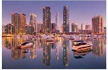 Seidenmatte Fototapete Dubai Skyline and Marina