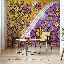 Seidenmatte Fototapete Floral Design mit Spiralen