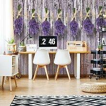 Seidenmatte Fototapete Lavendel auf lila