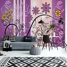 Seidenmatte Fototapete Modern Floral Design With