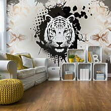 Seidenmatte Fototapete Modern Tiger Design 2,08 m